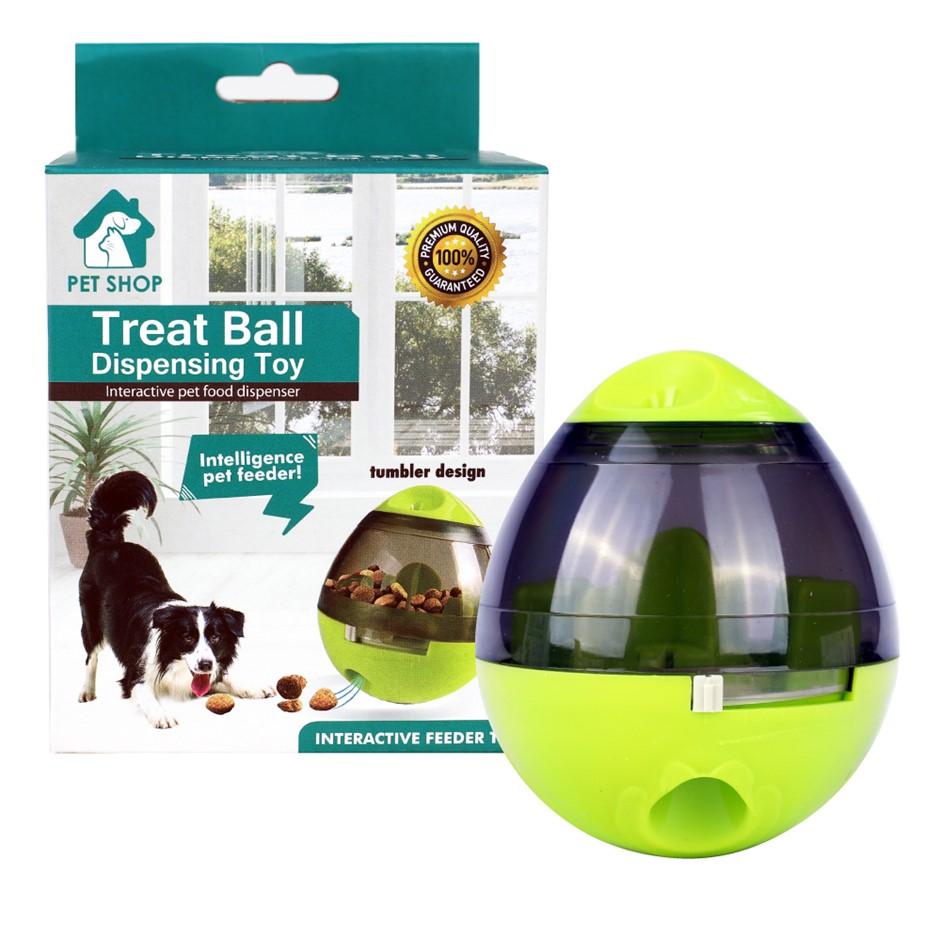 Pet Dog Puppy IQ Test Treat Ball Interactive Food Dispensing