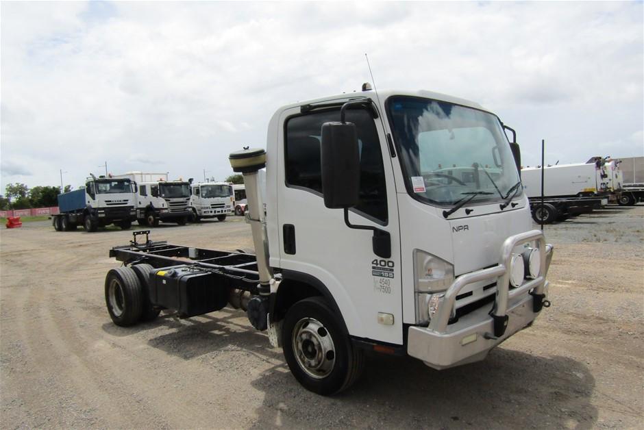 2012 Isuzu NPR 400 4 x 2 Cab Chassis Truck