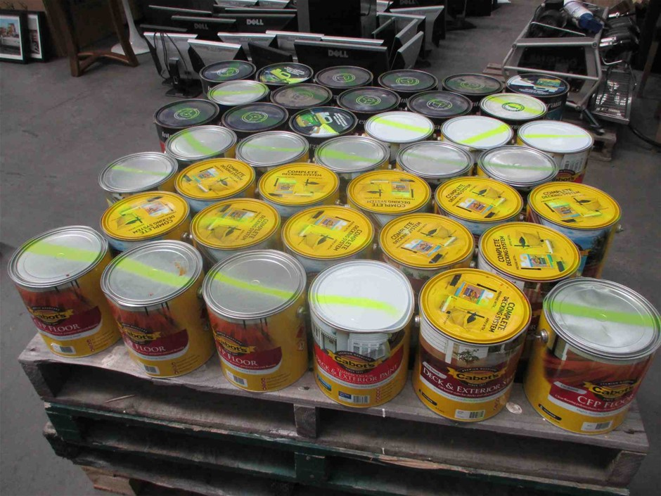 Qty 39 x 4 Litres Assorted Timber Oils & Stains