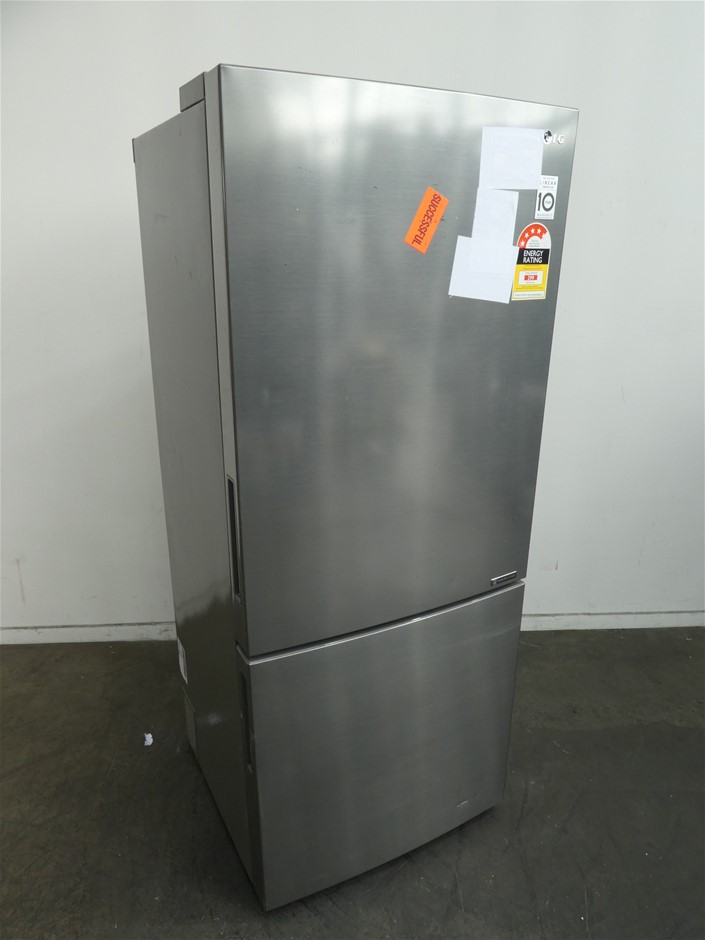 LG 450L Stainless Steel Bottom Mount Refrigerator (GB450UPLX)