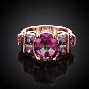 18K Rose Gold plated Lady's Unique Purpl