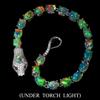 Spectacular Genuine Fire Opal Snake Bracelet.
