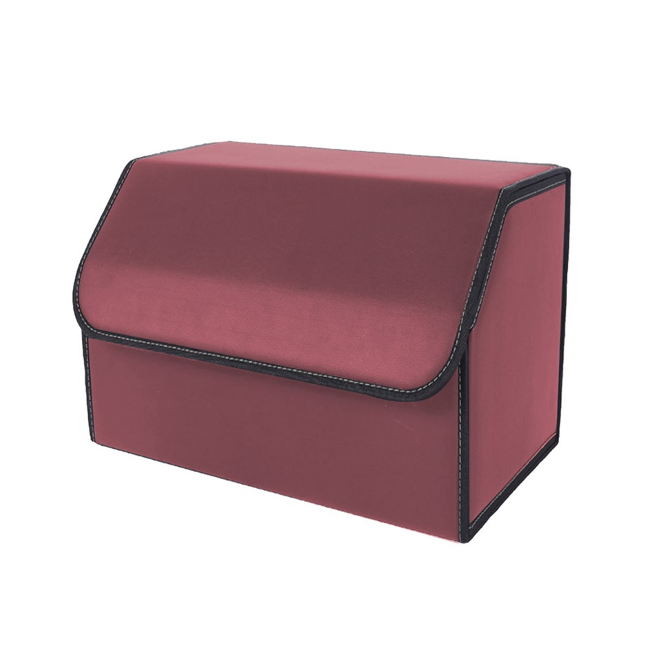 SOGA Car Boot Collapsible Storage Box Red Medium