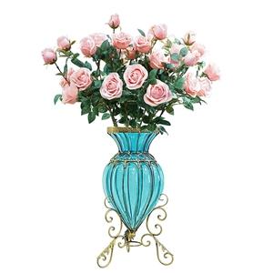 SOGA Glass Floor Flower Vase 8 Bunch 5 H