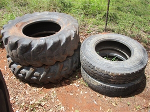 Qty 4 x Used Tyres