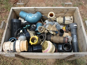 Timber Box Containing Miscellaneous Pipe
