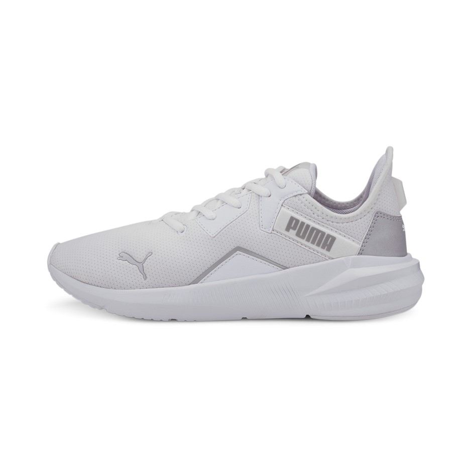 PUMA Women`s Platinum Training Shoes, Size UK 6.5, White Metallic Silver. (