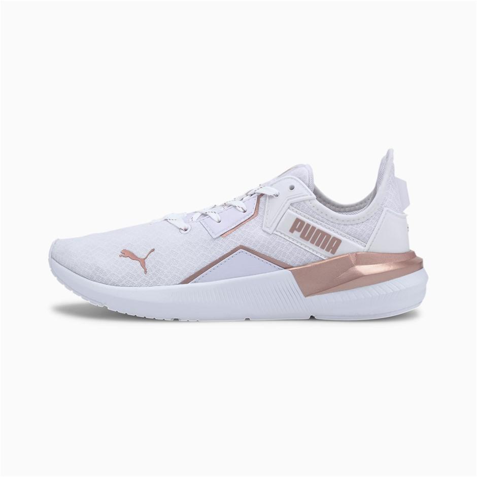 PUMA Women`s Platinum Metallic Training Shoes, Size UK 3.5, White-Rose Gold