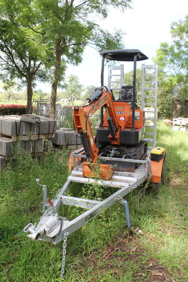 2019 KOBOLT KX10 Mini Excavator with Plant Trailer