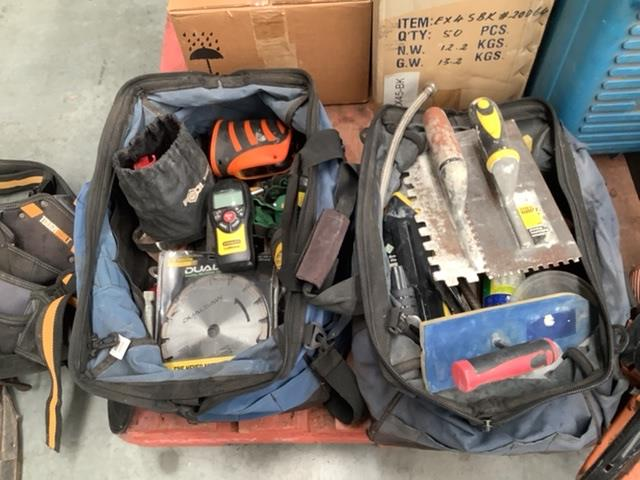Assorted Hand Tool and Tiling Equipment