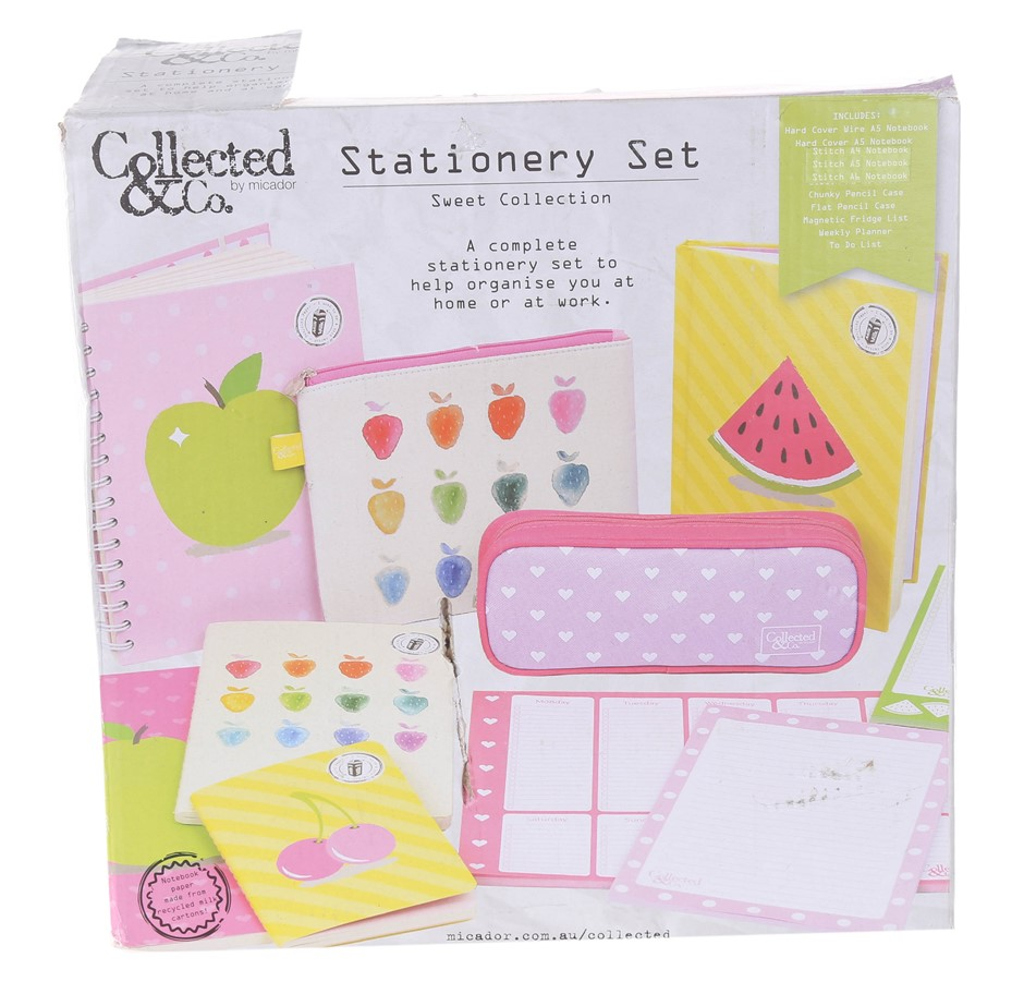 COLLECTED&CO Stationery Set: Sweet Collection N.B. Slightly Damaged Packagi