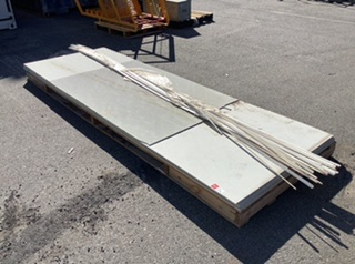 Pallet Containing Approximately Eight Cement Sheet Panels
