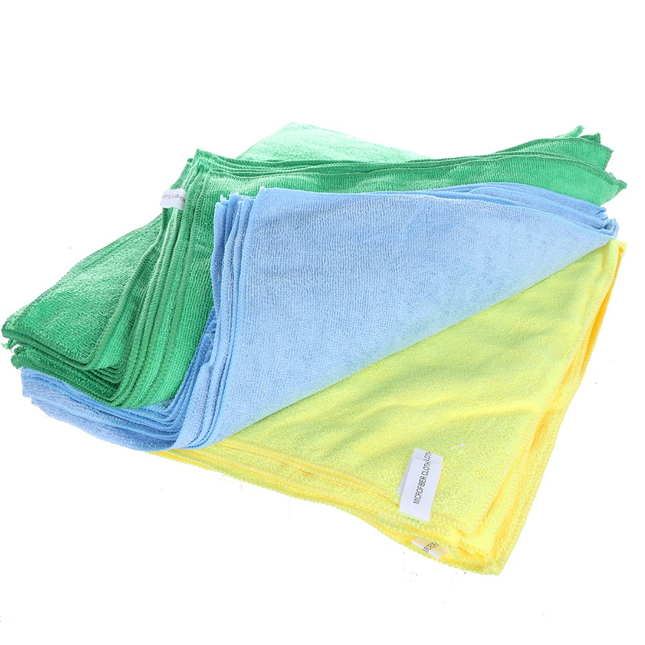 Pack of 36 x Multi-Purpose Microfiber Cloths 40 x 40cm 20GSM. Buyers Note -