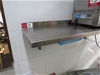 2x Stainless Steel Shelves - Wall mounted