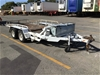 <p>2011 Custom Hydraulic Tilt Machinery Trailer</p>