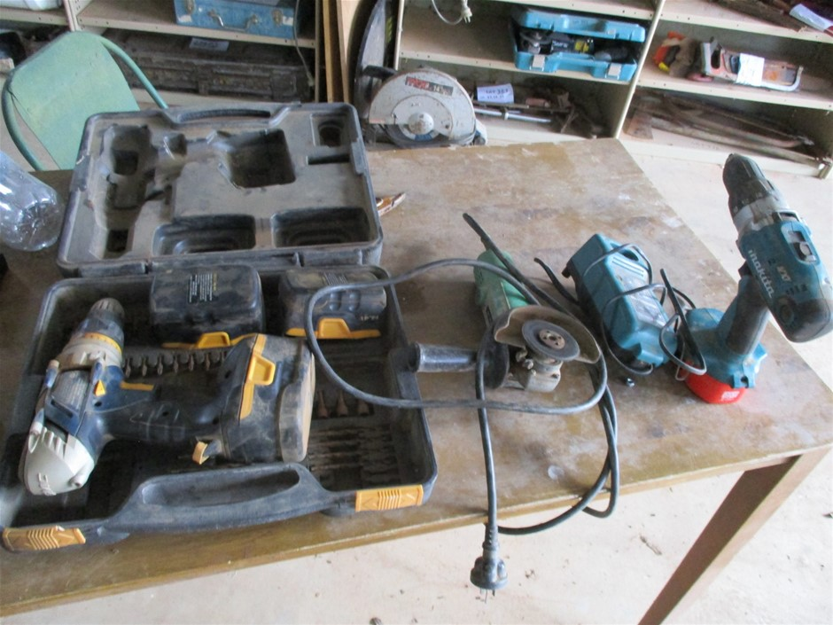 Power tools 2 x Drills and Grinder