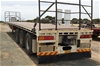 1983 Home Made ST3 Triaxle Flat Top Lead Trailer