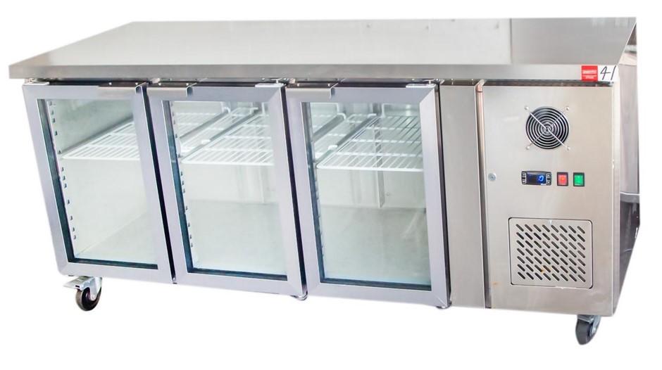 C.E.D STYLE 3 GLASS DOOR BENCH HIGH REFRIGERATOR