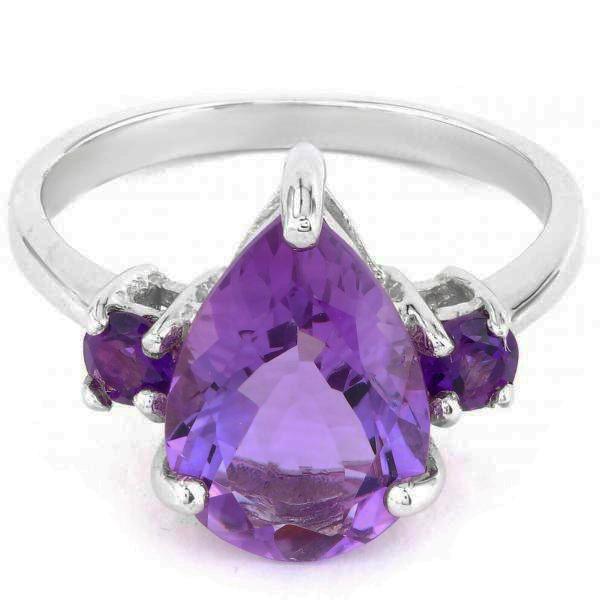 Stunning Sterling Silver Amethyst Ring