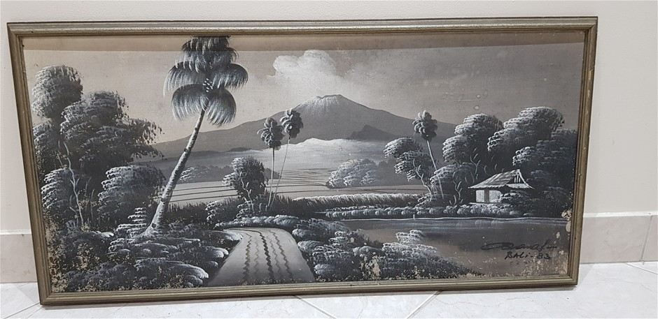 Country Scene With Volanic Mountain