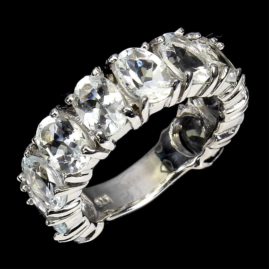 Gorgeous Genuine Aquamarine Ring.