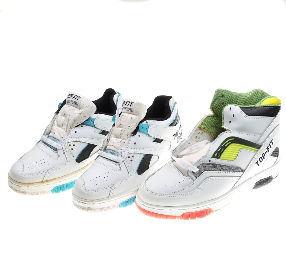 3 x TOP-FIT Athletics Dynamic Shoes, UK Size 6, White/ Blue/Black. N.B. Som