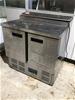 Polar G604-A Refrigerated Prep Bench with 2 Door Under Storage
