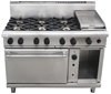 WALDORF 800 SERIES GAS COMBINATION 6 BURNER /HOTPLATE AND CONVECTION OVEN
