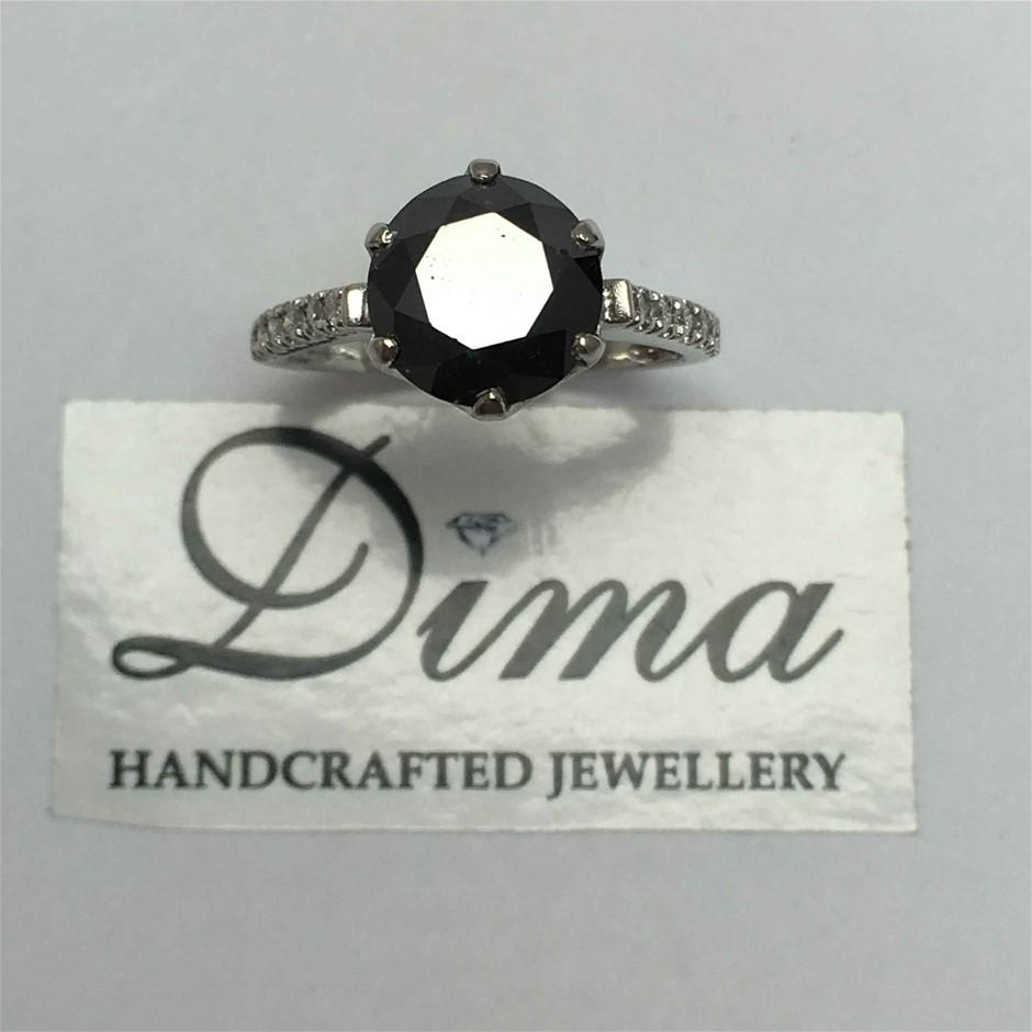 9ct White Gold, 3.47ct Diamond Engagement Ring