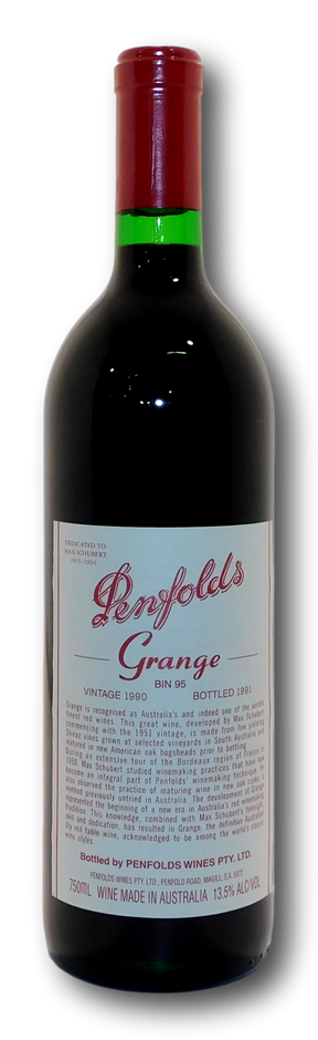 Penfolds Bin 95 Grange 1990 (1x 750mL), SA.