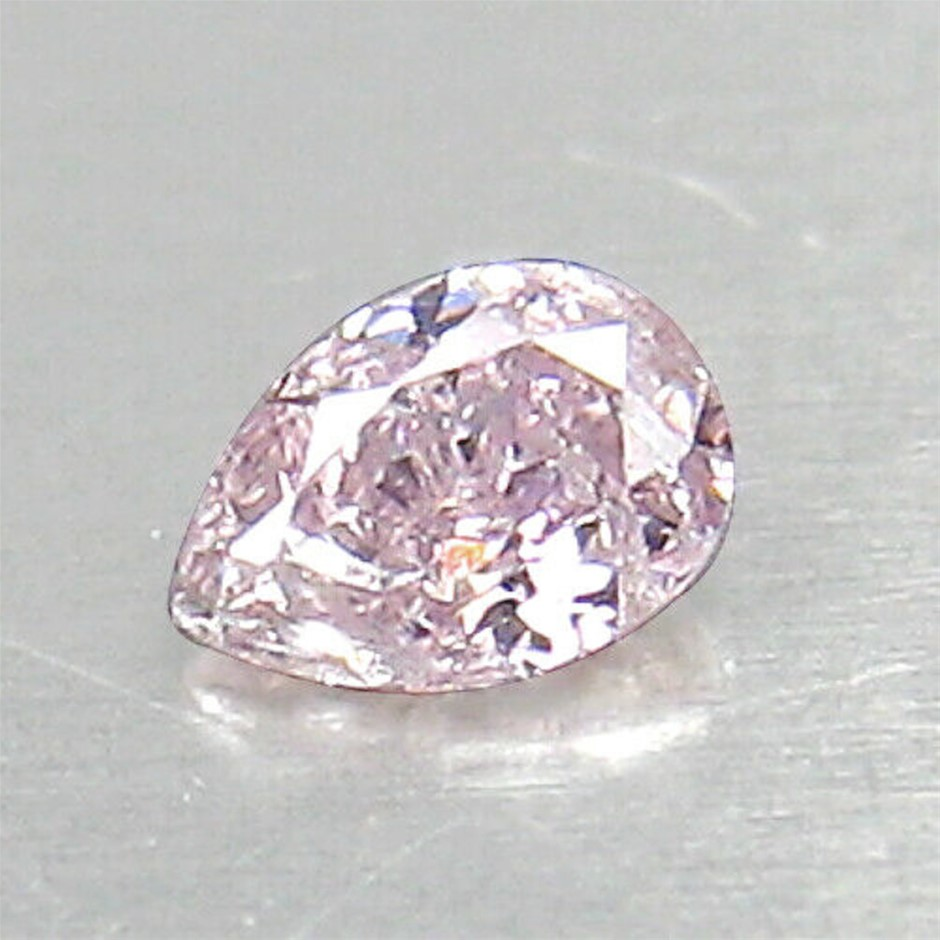 0.04ct Untreated Fancy Pink Diamond