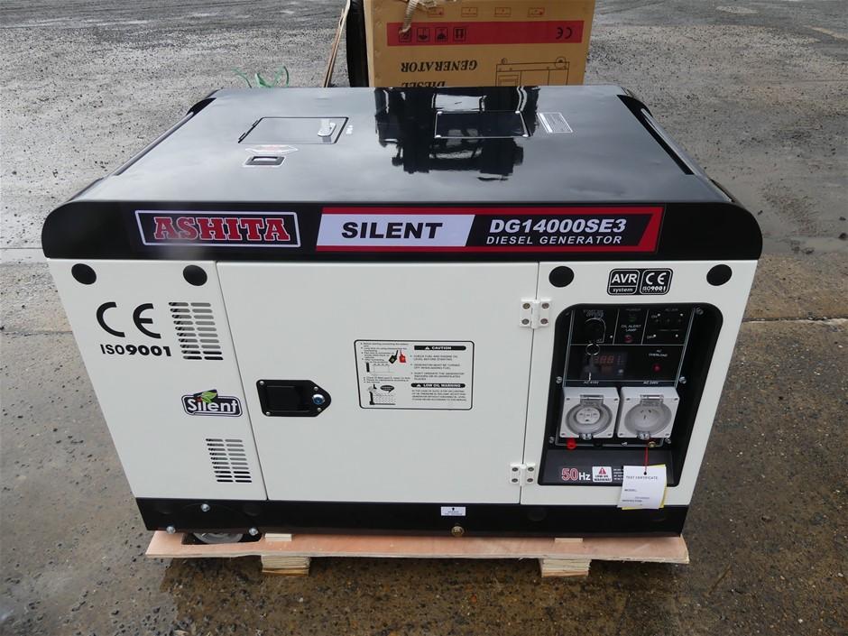 Unused Ashita DG14000SE3 Silent Generator