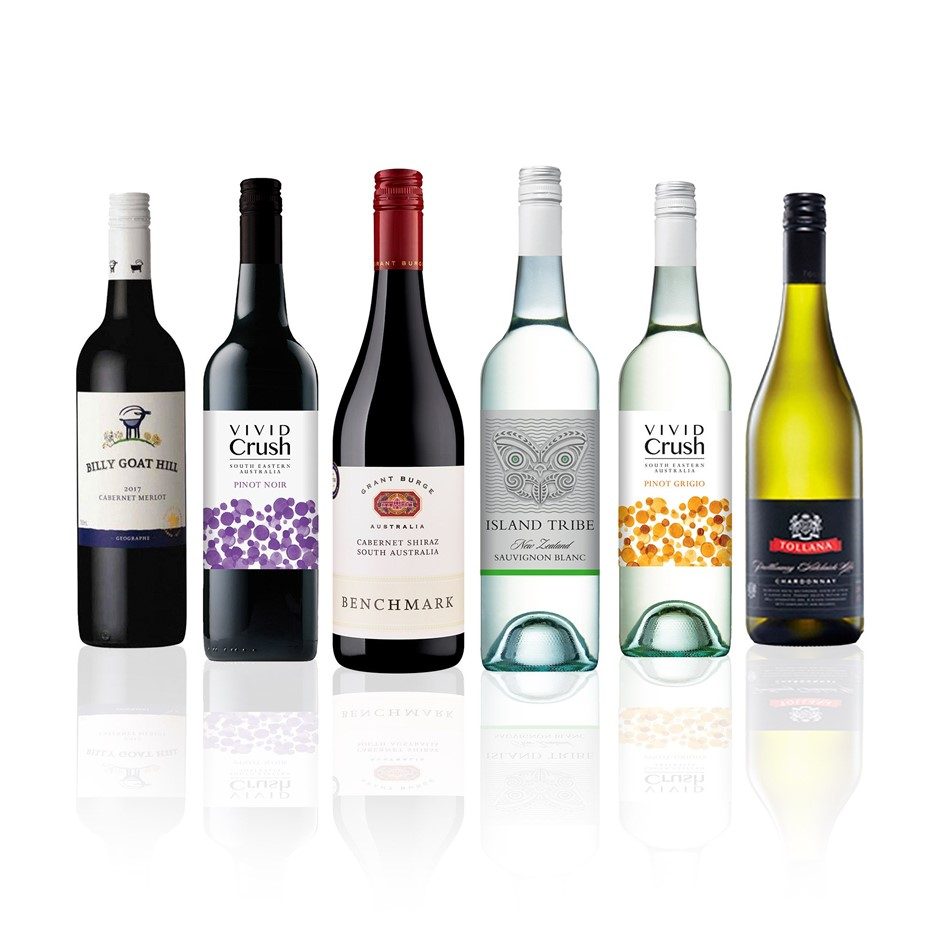 Premium Mixed Wine Half Dozen feat. Grant Burge, Tollana & more (6x 750mL)