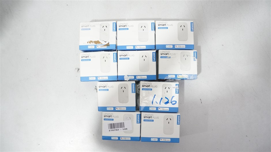 Box of USED/UNTESTED Lenovo SMART Plug's