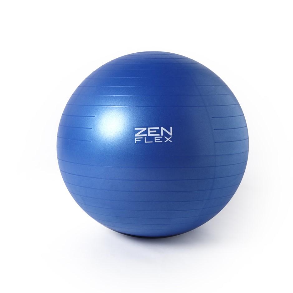 Zen Flex Fitness PVC Yoga Exercise Ball - Blue - Small