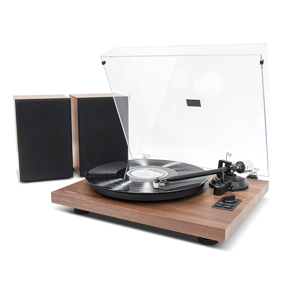 mbeat PT-28 Hi-Fi Turntable with Bluetooth Receiver and Speakers