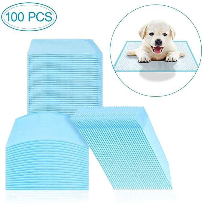 100pcs Indoor Toilet Diaper Training Pad Dog Cat Absorbent Cotton 60x60cm