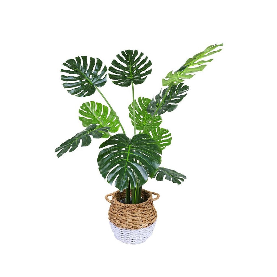 120cm Faux Artificial Potted Monstera Plant Real Looking Vivid Turtle Leaf