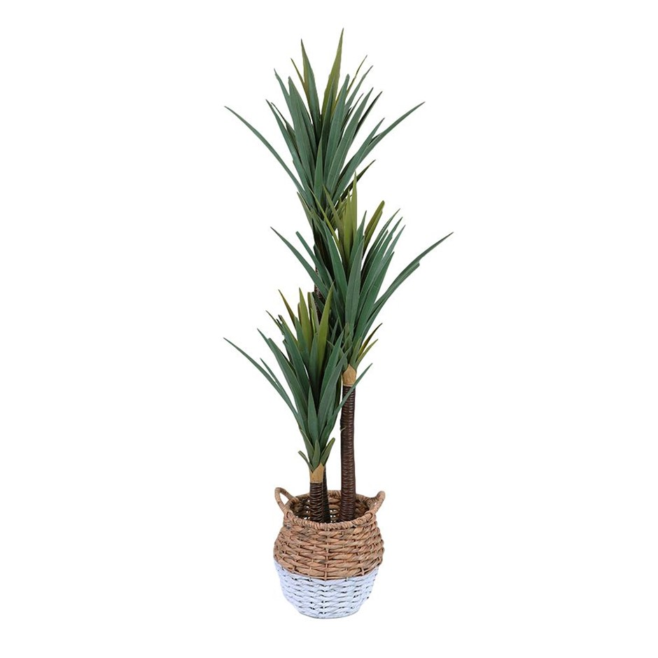 150cm Faux Artificial Potted Yucca Plant Green Natural Interior Home Style