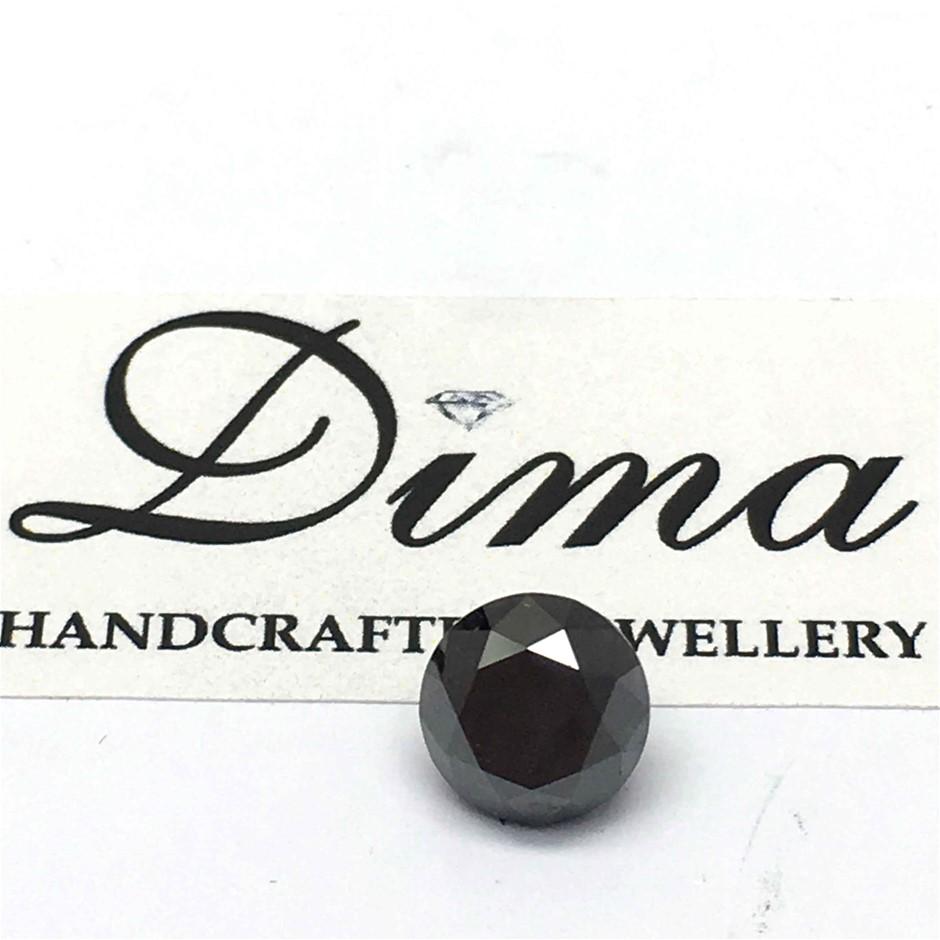 One Stone Black Diamond Round 0.59ct (4.8mm)