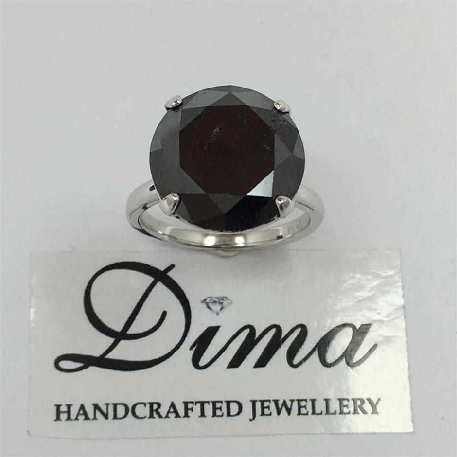 9ct White Gold, 9.10ct Diamond Ring