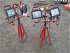 Qty 2 Sets Nelson Worklights on Tripods