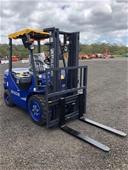Unreserved Unused 2021 3 Ton Diesel Forklift - Darwin