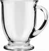 ANCHOR HOCKING 16-oz Café Glass Coffee Mugs, Clear, Set Of 6. Buyers Note -