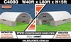 2021 Unused Heavy duty 40ft x 80ft Container Shelter