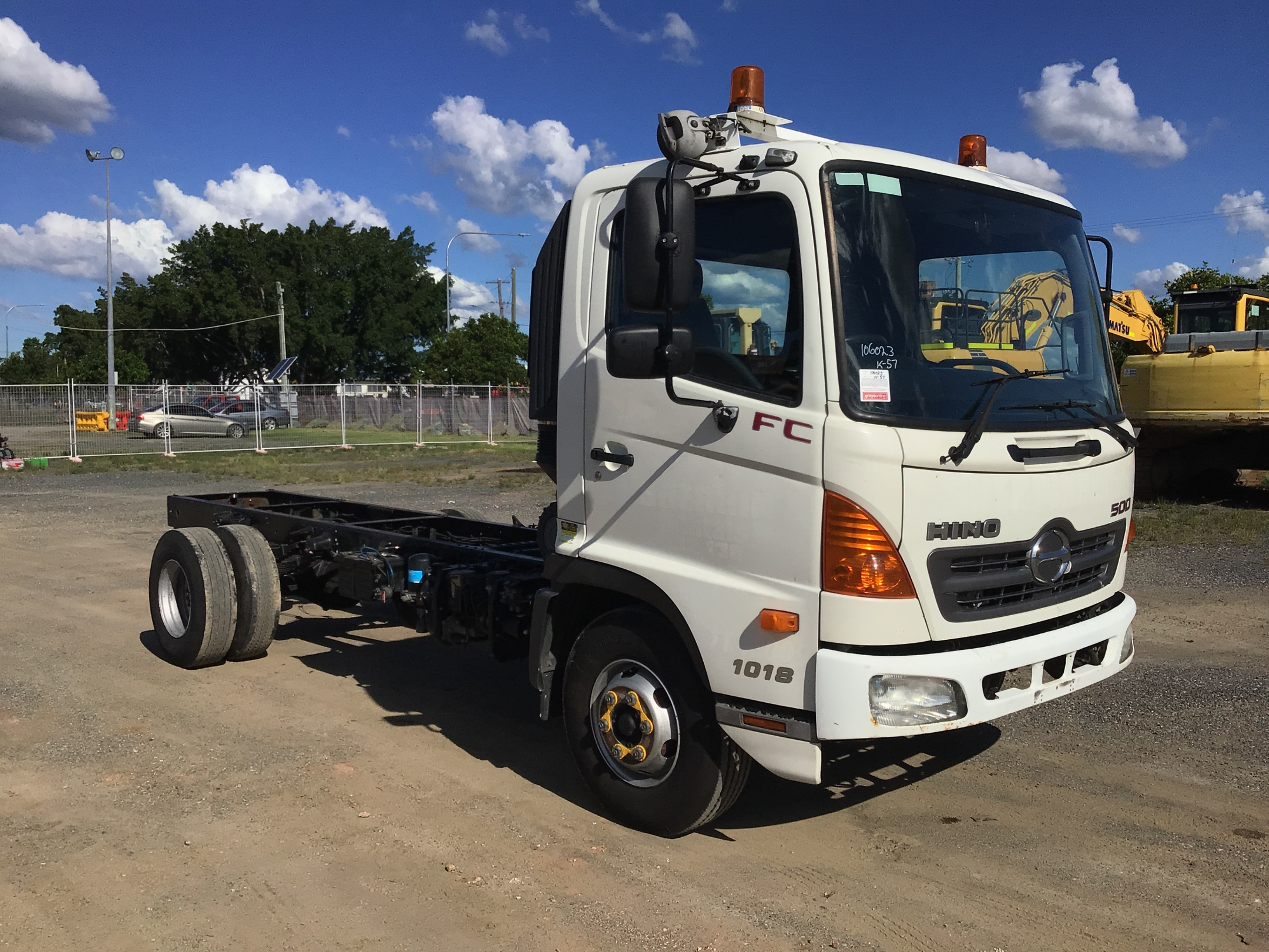 2009 Hino FC4J 4 x 2 Cab Chassis Truck