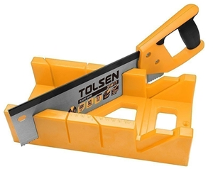 TOLSEN Mitre Box with Back Saw Set, 300m