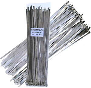 100 x Stainless Steel Cable Ties, Size 4