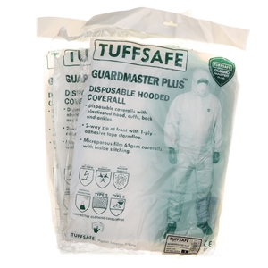 19 x TUFFSAFE Disposable Hooded Coverall