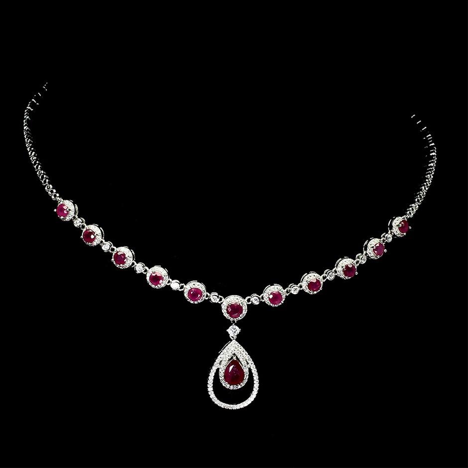 Glamorous Genuine Ruby necklace.